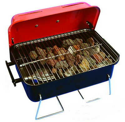 Crusader Portable Gas Barbeque - BBQ - With Lava Rocks - Ideal for Camping.