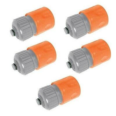 """5 PACK - QUICK FIX SNAP FIT 1/2"""" GARDEN HOSE PIPE CONNECTOR - with WATERSTOP"""
