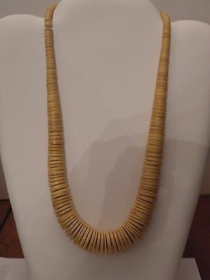 Mdr307 Contemporary Yellow Heishi Graduated Bead Necklace