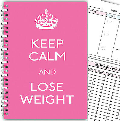 Diet Diary 3 Months Food Tracker /diet Log Slimming And Weight Loss/keep Calm