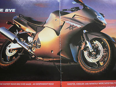 "HONDA CBR1100XX BLACKBIRD # ORIGINAL MOTORCYCLE ADVERT # 11""x 16"