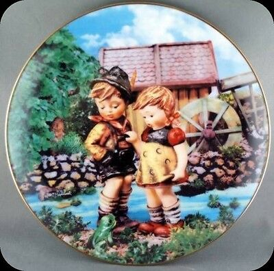 M. J. Hummel Hello Down There Little Companions  Collector Plate