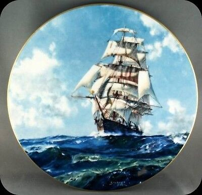 John Stobart Running Free Royal Doulton Ship Collector Plate Limited to 15000