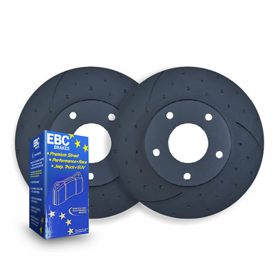 DIMPLED SLOTTED Ford Focus XR5 Turbo REAR DISC BRAKE ROTORS + EBC PADS RDA7971D