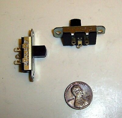STACKPOLE SLIDE MOMENTARY SWITCH 6A/125Vac or 1A/125Vdc