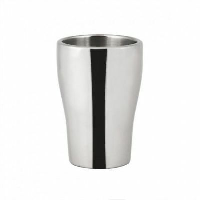 6x Wine Cooler / Champagne Bucket, Insulated Stainless Steel, Mirror Tulip Style