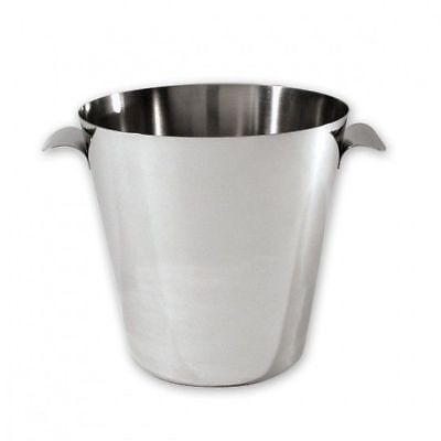 12x Wine Cooler / Champagne Bucket, Mirror Polished Stainless Steel, 165mm
