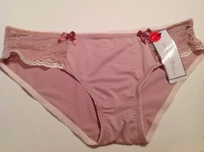 Marilyn Monroe Intimates Hiphugger Panty Large Solid Pink NWT MM8127