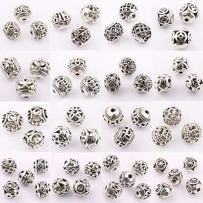 Wholesale 10/20Pcs Silver Plated DIY Charms Jewelry Making Loose Spacer Beads