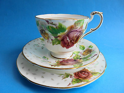 Paragon Golden Emblem  Trio Tea Cup Saucer And Plate
