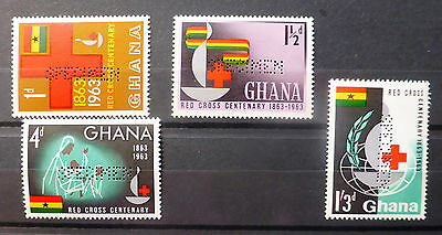 GHANA 1963 Red Cross with SPECIMEN Perfin U/M NEW LOWER PRICE FP6462