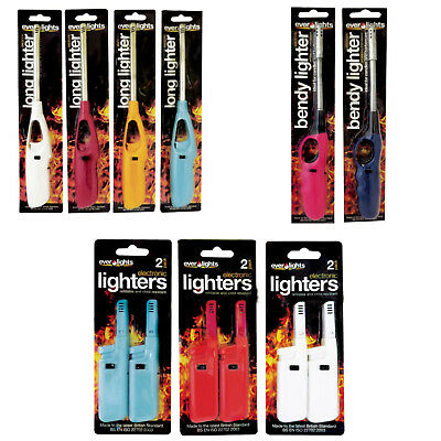 BBQ / Candle / Long Lighters. Choice Of Styles. From Everlights.