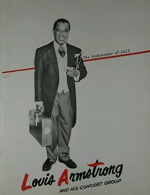 Louis Armstrong and His Concert Group Program Circa 1957 24 pages