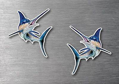 Marlin sticker 2 pack quality water & fade proof 7 year vinyl boat fishing