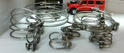 Land Rover Series 2 Petrol Engine Radiator Hose Heater Stainless Wire Clamp Set