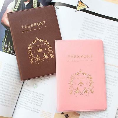 Travel Utility Passport Cover PU Leather Holder ID Card Case Protector Skin uf