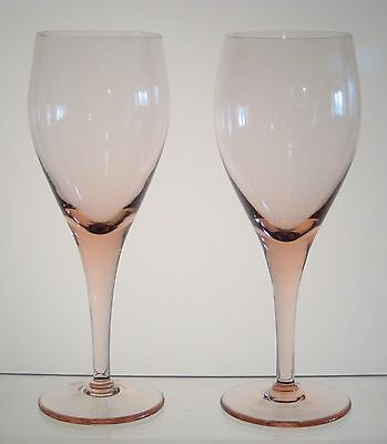 """ELEGANCE ROSE by MIKASA Water Goblets 7 7/8"""" PAIR, Multiples Available"""