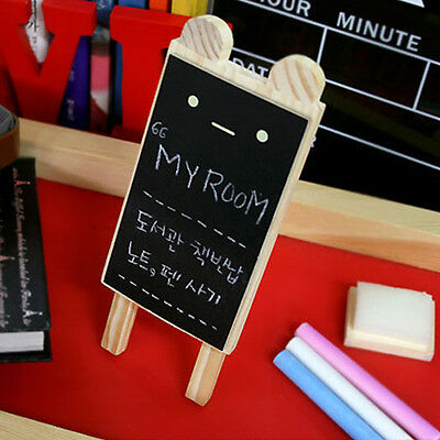 Mini Cute Expression DIY Wooden Decor Stand Frame Blackboard Message Chalkboard