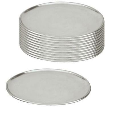 12 x Pizza Tray / Plate / Pan, Aluminium, 200mm / 8 inch, Round, Pizzas