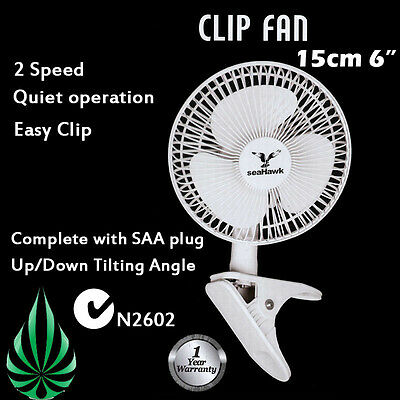 Seahawk CLIP FAN 150MM WITH CLAMP 2 SPEED ADJUSTABEL POWER SAVING STUDENT FAN