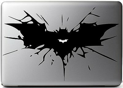 Batman Silhouette Super Hero Apple Macbook Air Removable Vinyl Sticker Decal