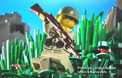 Brickarms Japanese Arisaka with Bayonet for Lego Minifigures 5 Pack Brown