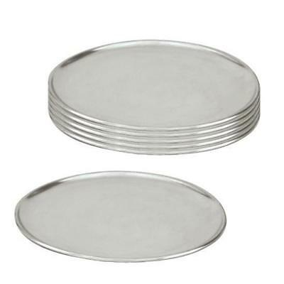 6 x Pizza Tray / Plate / Pan, Aluminium, 230mm / 9 inch, Round, Pizzas