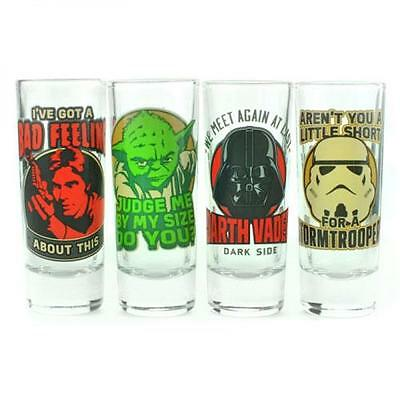 Star Wars - Classic Quotes Shot / Shooter Glass Set New & Official Lucasfilm Ltd