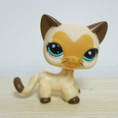 Littlest Pet Shop LPS Toys Heart Face Yellow & Tan Short Hair Kitty Cat  #3573