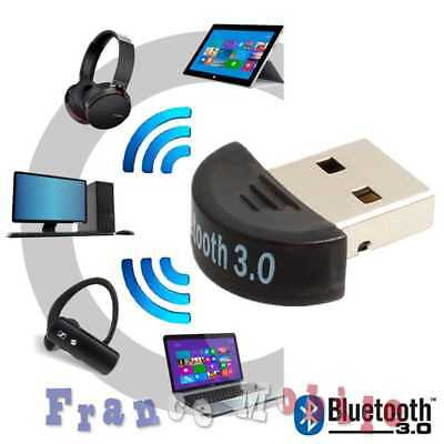USB Mini Dongle Bluetooth 3.0 Wireless Sans Fil Adapter pour Smartphone Android