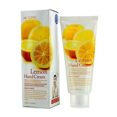 NEW 3W Clinic Hand Cream - Lemon 100ml Womens Skin Care