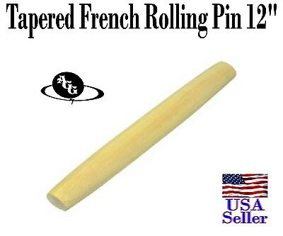 Tapered French Rolling Pin, Wooden 12""