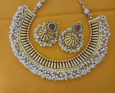 Indian Fashion Jewelry antique Earring bollywood ethnic gold plated deginer sets