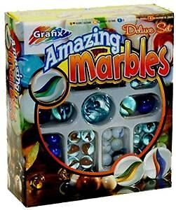 150+ Grafix Traditional Amazing Glass Marbles Shooter Deluxe Set Kids Toy Game