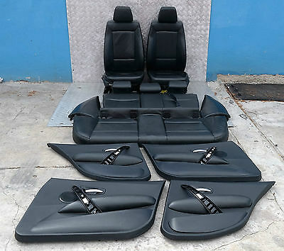 BMW 1 SERIES E87 Black Leather Interior Seats with Airbag and Door Cards