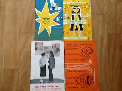 4 Vintage 1950's Long Vacation Holidays For Students Brochures Leaflets
