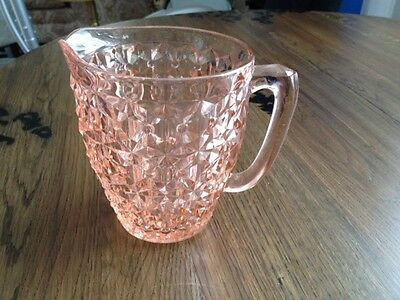 Pink Depression Glass Pitcher