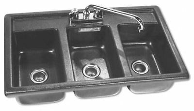 Three Compartment Drop-In SANITIZING SINK BHS – 1727