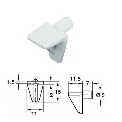 Shelf Support Pegs Push In Stud White Plastic Pack 20 Kitchen Bedroom Cupboard