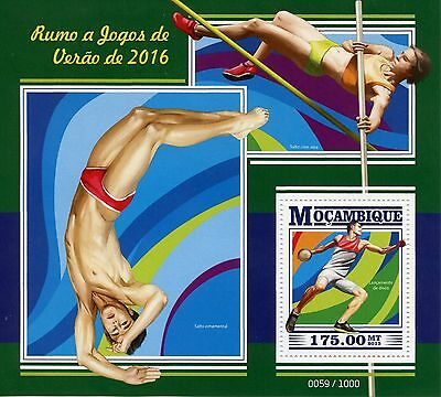 Mozambique 2015 MNH Olympic Summer Games Rio 2016 1v S/S Olympics Discus Throw