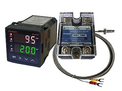 12V DC Digital PID F/C Temperature Controller + K Thermocouple + 25A SSR