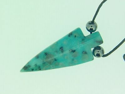 BUTW Aqua Quartz arrowhead necklace pendant 1041C