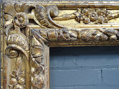 """Early antique hand carved and gilded frame 6'5"""" , stunning!"""