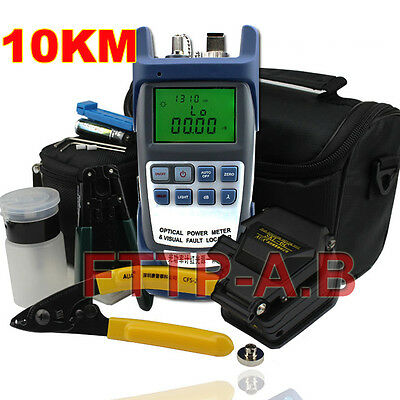 Optical Power Meter & 10KM Visual Fault Locator Integrated SKL-6C Fiber Cleaver