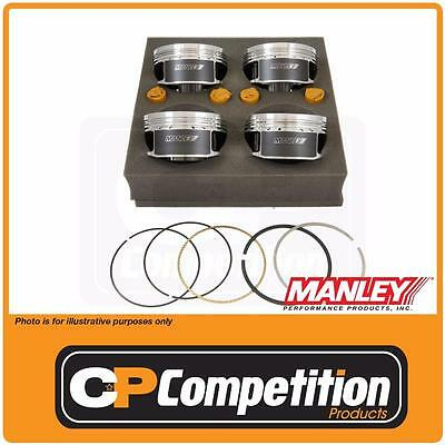 Manley Forged Piston & Ring Set MITS. 4G63T 7 BOLT 86mm Bore / 88 Stroke -12cc