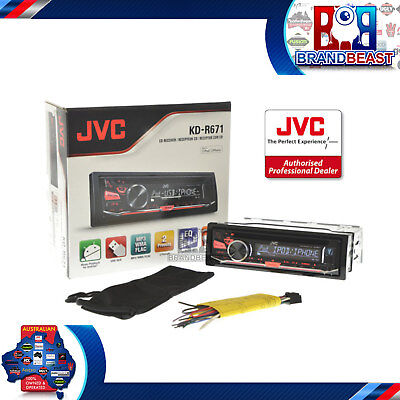 New Jvc Kd-R671 Single-Din Cd Usb Aux In Am Fm  Android Iphone Connectivity