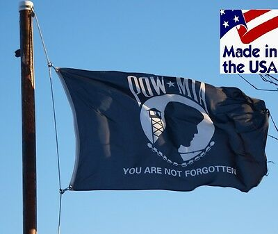 3x5 US POW MIA YOU ARE NOT FORGOTTEN Super-Poly In/Outdoor FLAG Banner*USA MADE