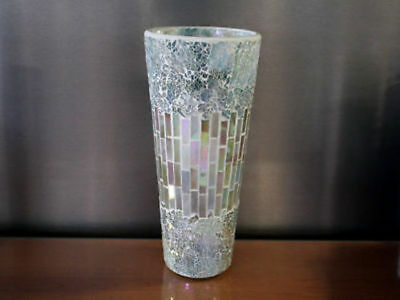 4 x Hurricane Shape Vase Mosaic 30cm tall Bulk Wholesale lot reduced to clear