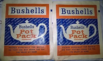 Pair of old BUSHELL'S TEA Packs, Good for Display.