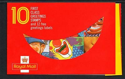 Gb 1990 Kx1 Smile 10 X 1St Class Barcode Booklet
